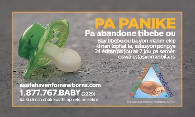safe haven business card in Creole