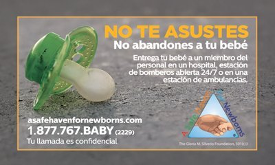 safe haven business card in Spanish