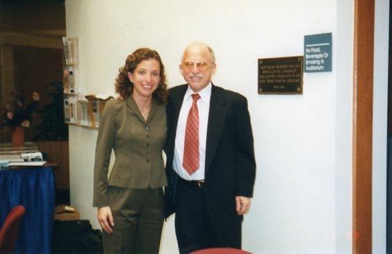 safe haven Nick with Debbie Wasserman Schultz