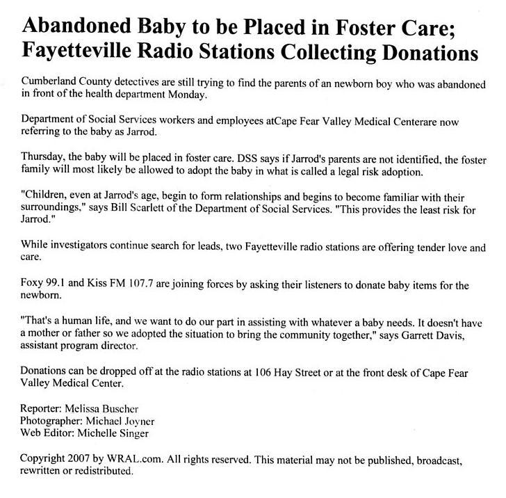 abandonedbabytobeplacedinfostercare