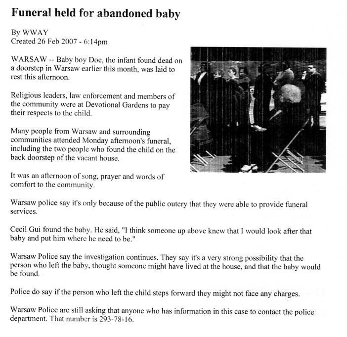 funeralheldforabandonedbaby