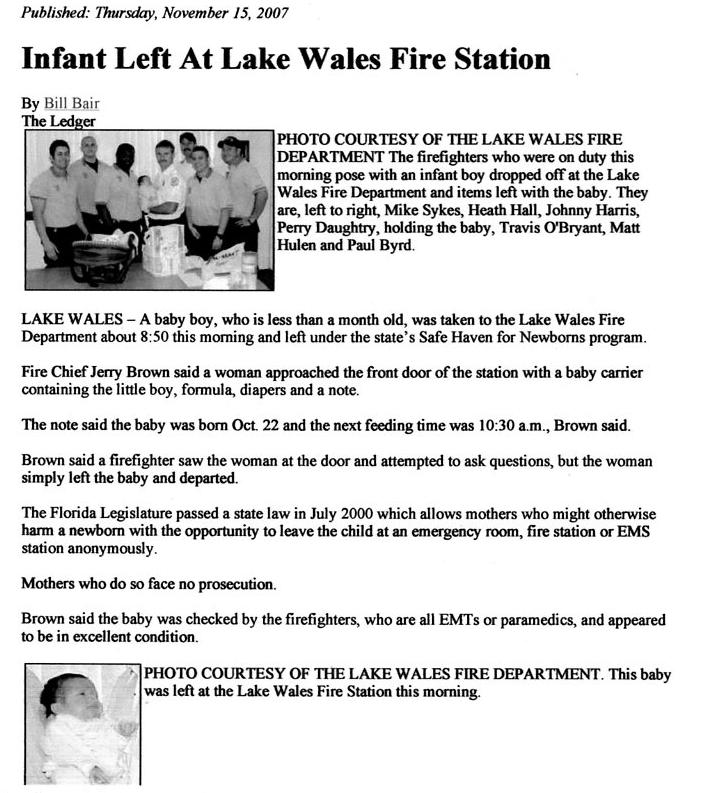 infantleftatlakewalefirestation
