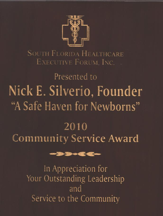nick awarded SFHEF award