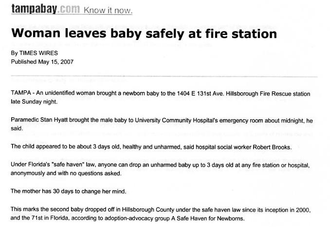 womenleavesbabysafelyatfirestation