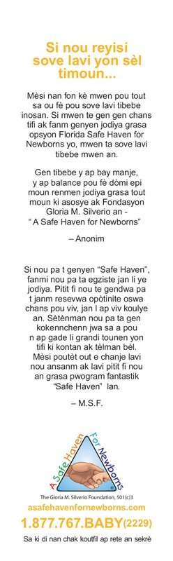 safe heaven for newborns creole florida