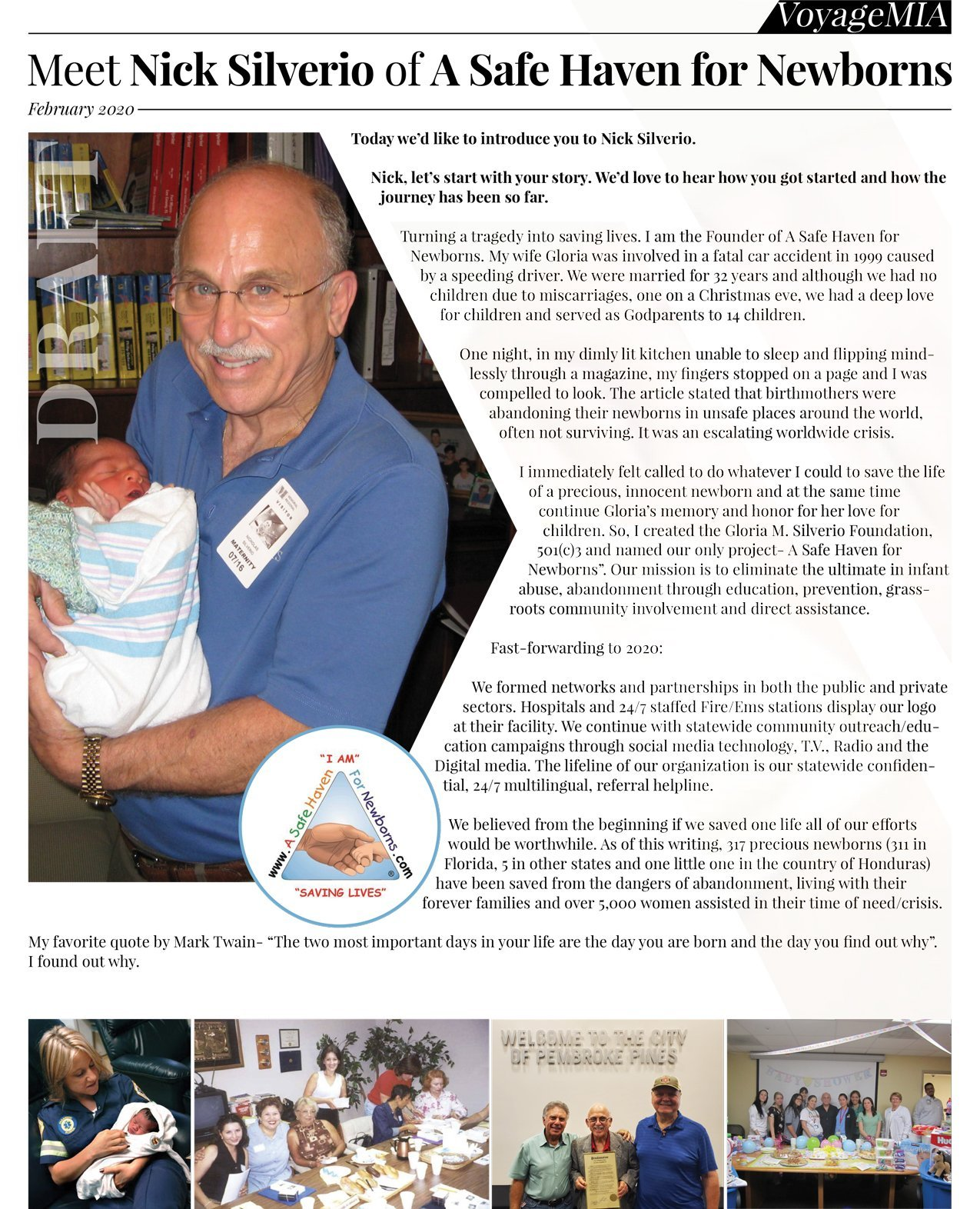 A Safe Haven For Newborns Voyage MIA news article